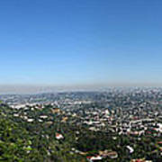 Downtown La From Griffith Observatory Poster