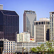 Downtown New Orleans Buildings Poster by Paul Velgos