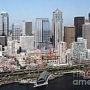 Downtown Seattle Washington City Skyline Poster