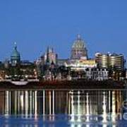 Downtown Skyline Of Harrisburg Pennsylvania Poster