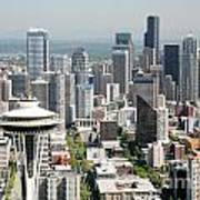 Downtown Skyline Of Seattle Poster