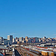 Downtown Tacoma View From The Rail Lines Poster
