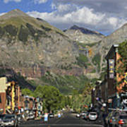 Downtown Telluride Colorado Poster by Mike McGlothlen