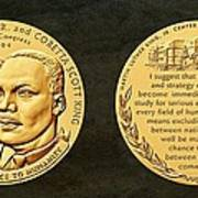 Dr Martin Luther King Jr And Coretta Scott King Bronze Medal Art Poster