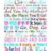 Dr Seuss Books 3 Poster