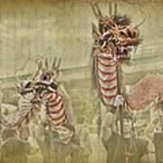 Dragon Festival Poster by Karen Walzer