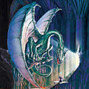 Dragon Lair With Stairs Poster