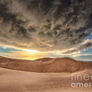 Dramatic Clouds Over The Sand Dunes Poster