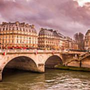 Dramatic Parisian Sky Poster