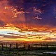 Dramatic Prairie Sunset Poster