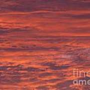 Dramatic Red Sky Poster