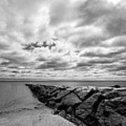 Dramatic Sky At Penfield Jetty Poster