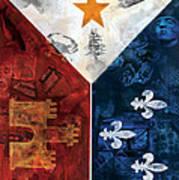 Drapeau Du Acadie Poster