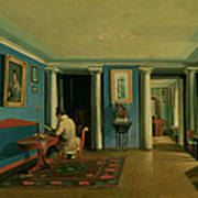 Drawing Room With Columned Entresol  Poster