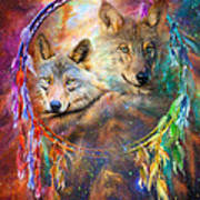 Dream Catcher - Wolf Spirits Poster