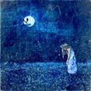 Dreaming In Blue Poster by Rhonda Barrett