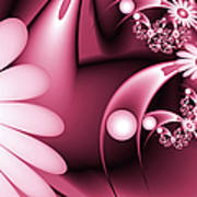 Dreamy Flower Garden Poster