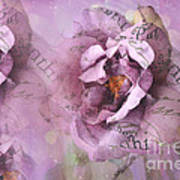 Dreamy Purple Lavender Impressionistic Abstract Floral Art Photography Poster