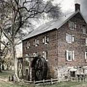 Dreary Skies At Kerr Gristmill Poster