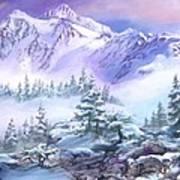 Dressed In White Mount Shuksan Poster