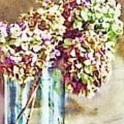 Dried Autumn Hydrangeas - Digital Paint Poster