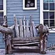 Driftwood Bench Poster