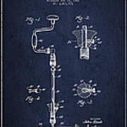 Drill Pounder Patent Drawing From 1922 Poster