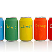 Drink Cans Poster