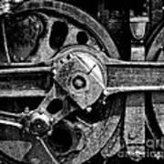 Drive Wheel - 190 - Bw Poster