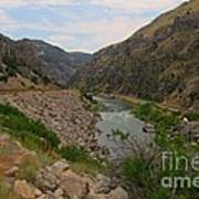 Driving Through Wind River Canyon Poster