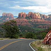 Driving To Sedona Poster