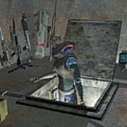 Droid Discovering A Weapons Cache Poster