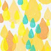 Drops Of Sunshine- Abstract Painting Poster by Linda Woods