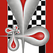 Drops On A Chess Board Poster