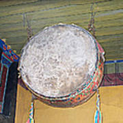 Drum Outside Former Living Quarters Of Dalai Lama In Potala Palace In Lhasa-tibet Poster