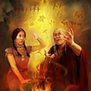 Drum Story Elders Teaching Poster