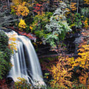 Dry Falls In Autumn Poster