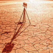 Dry Lake Photography Poster