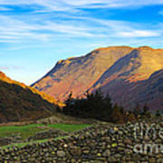 Dry Stone Walls In Patterdale In The Lake District Poster