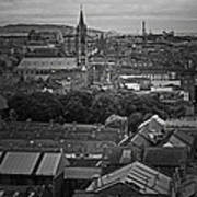 Dublin Ireland Cityscape Bw Poster