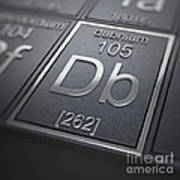 Dubnium Chemical Element Poster