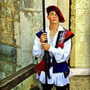 Dubrovnik Guard Poster