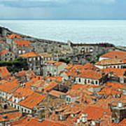 Dubrovnik Rooftops And Walls Poster