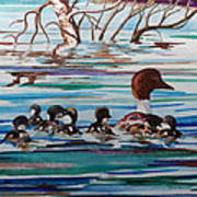 Ducks In A Row Poster