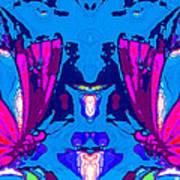 Dueling Butterflies Poster