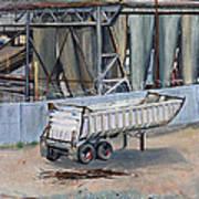 Dump Truck Bin And Steel Mill Poster