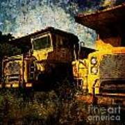 Dump Trucks Poster by Amy Cicconi