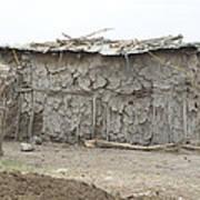 Dung Huts Of The Masai Poster