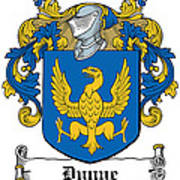Dunne Coat Of Arms Irish Poster