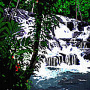 Dunns River Falls Jamaica Poster